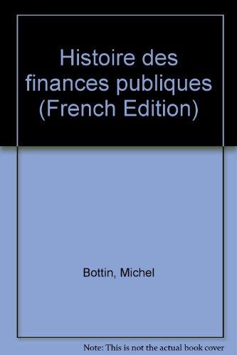 Histoire des finances publiques