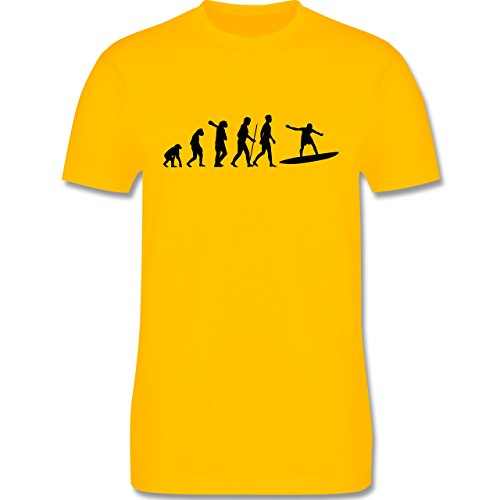 Evolution - Surfer Evolution - Herren Premium T-Shirt Gelb