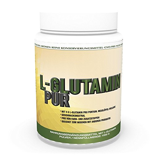 Vita World L-Glutamine Poudre pur 1kg 100% pureté Sans additif Made in Germany