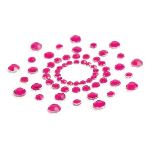 Bijoux Indiscrets Mimi, aufklebbarer Brustschmuck aus Strass pink, 1er Pack (1 x 2 Stück) (Bijoux 1 Licht)