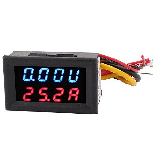 DC 0-30 V, Dual 0-50A Blau Rot Digital LED Panel-Meter Voltmeter Amperemeter - Dual Gauge Mount