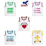 #8: Zura's Export Quality Cotton Boy Baby Tshirt / Girl Baby Tshirt / Baby dress / Kids Tshirt / Baby Teeshirt (Pack of 5)