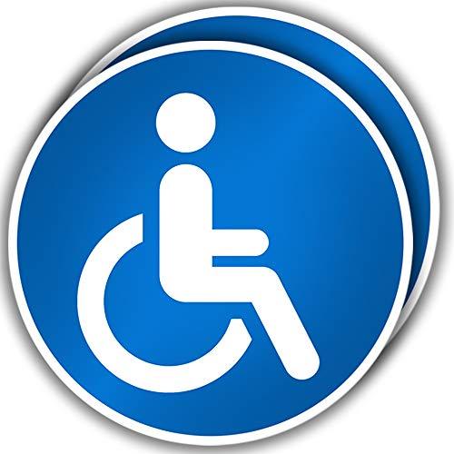 KAVARO Behinderten Aufkleber Auto - Rollstuhl Aufkleber für Fahrzeug (2 Stück)