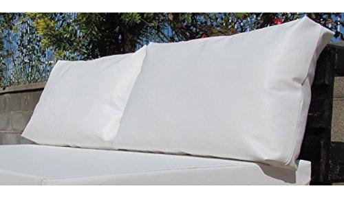 Mueblesexterior 00 - Pack de Cojines Respaldo para Palet, 60 x 20 x 46 cm, Color Blanco