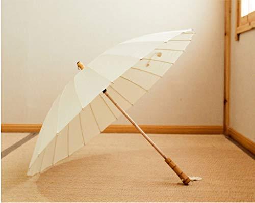 Regenschirm Windproof Tragbarer schwarzer Sonnenschutz aus Kunststoff UV-Regenschirme Einfacher einfarbiger europäischer Retro-Reisekompakt Leichter regenfester zusammenklappbarer Regenschirm Mehrfarb - Spf Hat 50