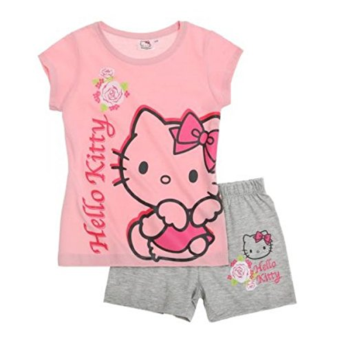 Hello Kinder Schlafanzug Kitty (Hello Kitty Mädchen Shorty-Pyjama - rosa - 116)