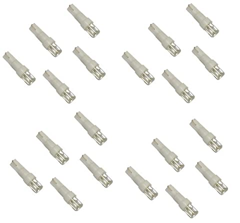 Aerzetix - Lot de 20 ampoules T5 à LED lumière blanche - C1846