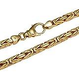 Königskette massiv 14 Karat 585 Gelbgold 45cm lang und 2,5mm breit