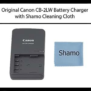 Brand New originale Canon Chargeur de batterie CB-2LW pour Canon NB-2LH BP-2L12, BP-2L14, BP-2L5, BP-2LH, NB-2L, NB-Références 2LHCompatible: BP-2L12, BP-2L14, BP-2L5, BP-2LH, NB-2L, NB-2LH, Compatible Chargeur Références: CB-2LE, CB-2LT, CB-2LTE, CB-2LW, CBC-NB2 + Bonus tissu de nettoyage Shamo