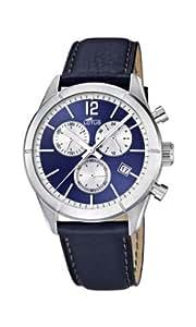 Lotus - 15850/7 - Montre Homme - Quartz Chronographe - Chronomètre/Aiguilles Luminescentes - Bracelet Cuir Bleu