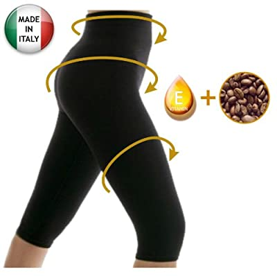 Anti cellulite slimming capri pants with caffeine microcapsules