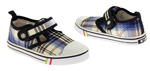 De Fonseca Giancio Toile Sangle Velcro Chaussures d'été Garçons Bleu