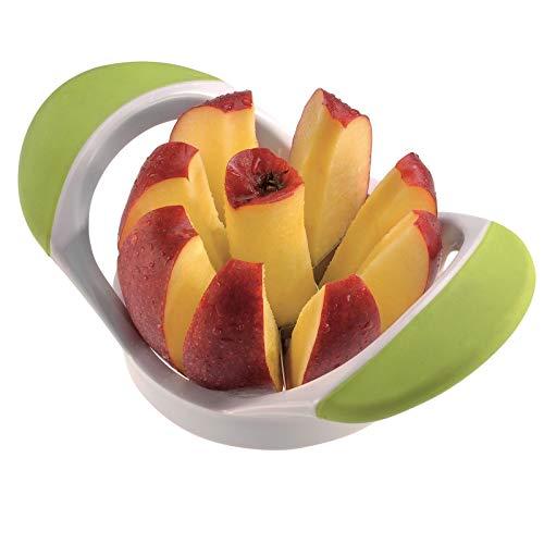Westmark Apfel- und Birnenteiler, 17,5 x 10,5 x 6,5 cm, Rostfreier Edelstahl/Kunststoff, Weiß/Grün, 51622270