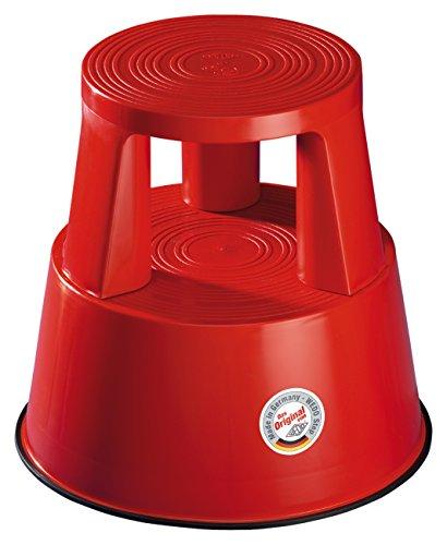 Wedo 212202 Rollhocker (Step Kunststoff TÜV- und GS-geprüft nach EN 14183-F) rot