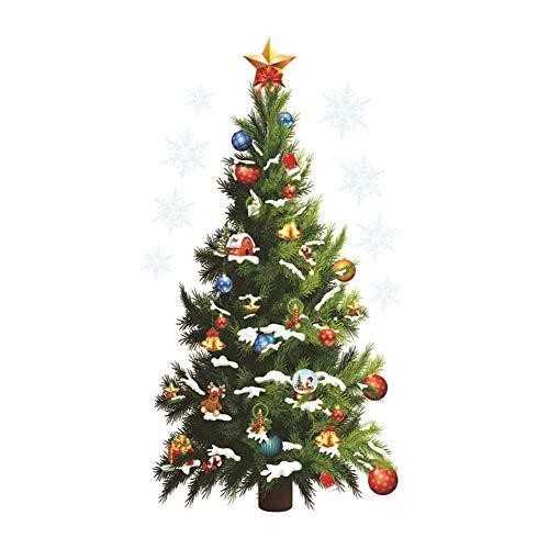 Weihnachtsbaum Wandaufkleber Wandbilder, Weihnachtsbaum Stern Wand Abnehmbare Weihnachten Aufkleber Wasserdichte Aufkleber Weihnachten ()