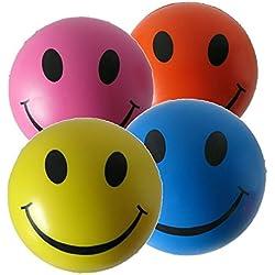 Pelota Anti Estrés - 4 x Bola Anti-Estrés de Colores Mezclados - Amarilla, Rosa, Azul y Naranja - Para ADHD y Autismo