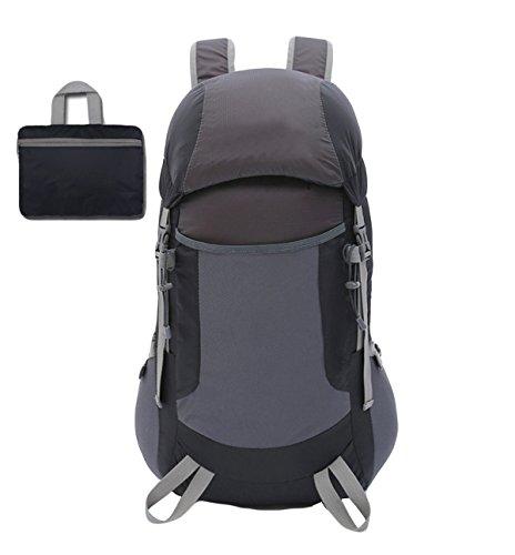Leichte Faltbare Taschen Outdoor-Sport-Bergsteigen Taschen-,Black Black