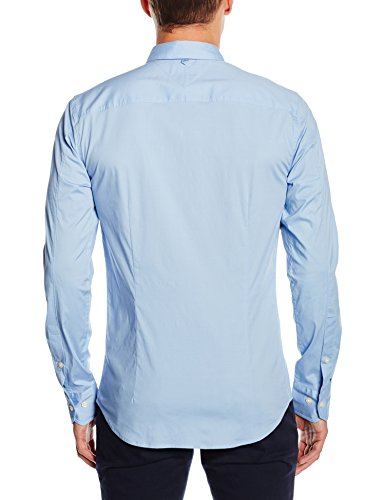 Hilfiger Denim Men's Original Stretch Slim Fit Long Sleeve Casual Shirt, Blue (Lavender Lustre), X-Large