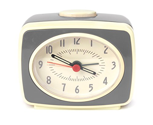 Kikkerland Despertador, Gris, 9.8000000000000007 x 6.1 x 8.3000000000000007 cm