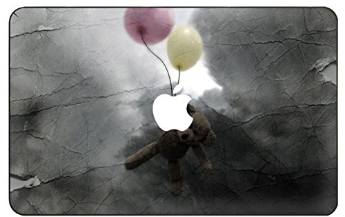 kikhorse Cartoon Kollektion Hochwertige Ultra Dünn Vorderseite Aufkleber Removeable Top Abziehbild Für New MacBook Air 13 Zoll Retina (2019/2018, Touch ID) (Modell: A1932) (Ballon - bär)