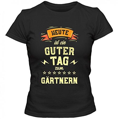 Gärtnern Premium T-Shirt | HobbyShirt | Garten | Grüner Daumen | Frauen | Shirt, Farbe:Schwarz...