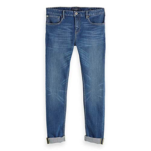 Scotch & Soda Jeans Men Skim 148654 Blau Lucky Blauw Dark 2729, Hosengröße:32/32