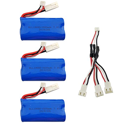 Umwandlung Linie (Lopbinte 7.4V 1500Mah Lipo Batterie mit 1 Bis 3 Umwandlungs Linie für Batterie Lipo 2S des Ft009 Rc Boots Schnell Boot 12428)