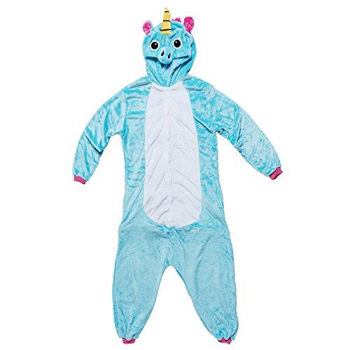 Kostüme Amazon Billige Halloween (Katara 1744 - Einhorn Einteiler Kostüm-Anzug Onesie/Jumpsuit für viele verschiedene Tiere,)