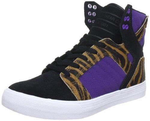 Shoes Supra Skytop Black Purple Tiger White Schwarz - Schwarz