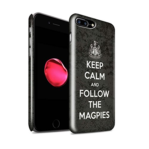 Offiziell Newcastle United FC Hülle / Glanz Snap-On Case für Apple iPhone 7 Plus / Toon On Muster / NUFC Keep Calm Kollektion Folgen/Magpies