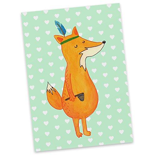 tkarte Fuchs Indianer - 100% handmade in Norddeutschland - Pappe, Füchse, Spruch lustig, Einladung, Karte, Indianer, Geschenk Koch, Fuchs, Papier, Kochen, Karton, Postkarte ()