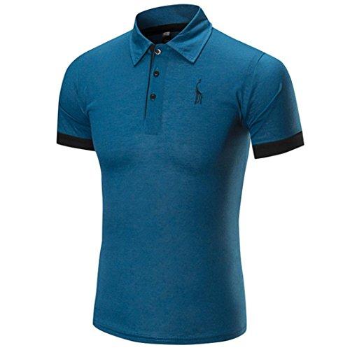 Cinnamou Camisetas Hombre, Polos de Hombres Deportivas Puños de venado de los Hombres Polo Camisa de Impresión Blusa y Tops