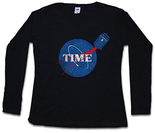 Urban Backwoods Time Woman Donna T-Shirt A Manica Lunga – Taglie XS – 2XL Nero