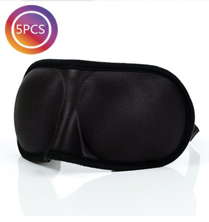 tankerstreet 5Stück 3D Memory Foam Augen Maske Einstellbare Soft Sleep Masken für Augen Design Schlafmaske Augen Displayschutzfolie von Licht–Schwarz (Ohr Waschen Hund)