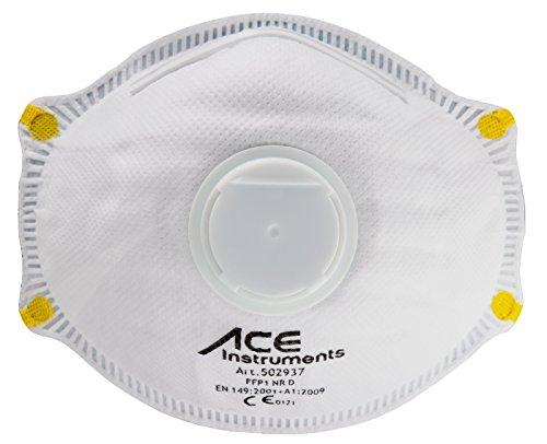 ACE 10 x Mascarilla Protectora FFP1, Contra Partículas, Humo, Aerosoles y Polvo, Mascarilla Protectora de las Vías Respiratorias EN149 ...