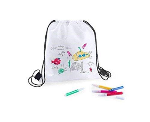 Lote 25 Mochilas Infantiles para Colorear y Pintar