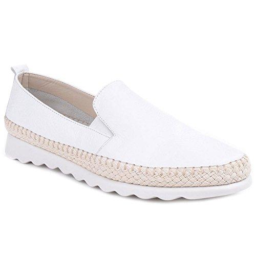 The Flexx Femmes Chappie Saratoga Chaussures Mocassins Cuir Slip-On Blanc