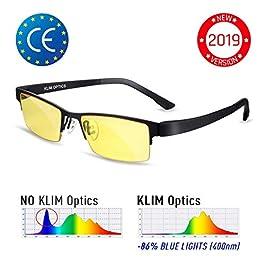 KLIM™ Juliette – Occhiali Anti Luce Blu per Donna + Alta Protezione + Blocca Il 92% della Luce Blu + per PC Mobile TV…