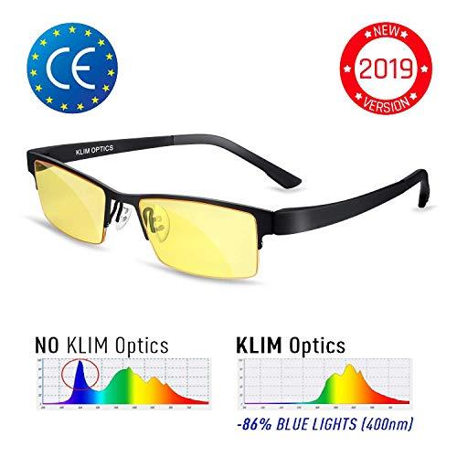⭐️KLIMTM Optics Brillen mit Blaulichtfilter - Hoher Schutz - Gaming Brillen für PC, Handy und Fernseher - Anti-Müdigkeit, Anti-Blaulicht, UV-Schutz [ Neue 2019 Version ]