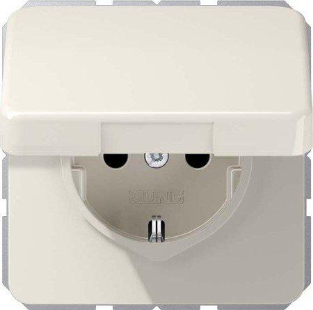 Jung 1520 BFKL SchukoSteckdose 16A250V bruchsicher mit Klappdeckel Serie CD weiß, -