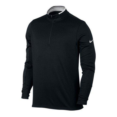 Nike Golf - Sweat à col zippé - Homme (S) (Noir/Blanc)