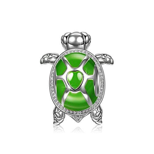 NINAQUEEN Grüne Schildkröte Damen Bead Charm 925 Sterling -