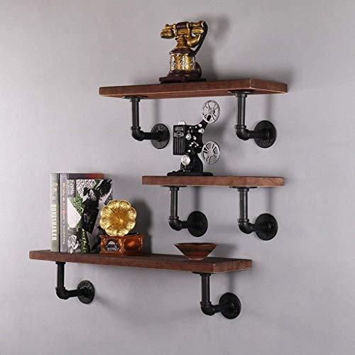 Willesego Satz von 3 verschiedenen Größen Hölzernes schwebendes Regal vorhanden im braunen Bücherregal für Wohnzimmerküche (Farbe : -, Größe : -) -