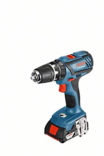 Bosch GSB 18-2-LI Plus Professional Pistol grip drill Lithium-Ion (Li-Ion) 2Ah 1540g Black,Blue,Red GSB 18-2-LI Plus Professional, Pistol grip drill, Impact drilling, Screwdriving, Black,