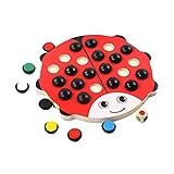 TOYANDONA Holz Brettspiel Memory Spielzeug Gedächtnisspiele Schachspiel Denkspiel Marienkäfer Spielzeug für Kinder