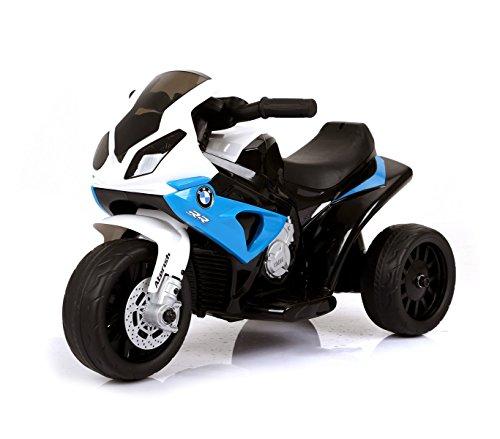LT883 Motocicleta eléctrica para niños BMW luces LED 6V MP3 edad de 3 a 8 años - Azul