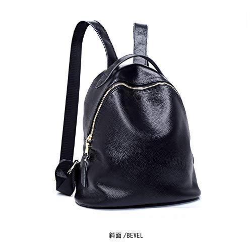 Nulijianchi1 Frauen Rucksack 100% Leder Schultertasche Freizeit Reisetasche Student Bag Tote Großhandel, Schwarz (Tote Bag Großhandel)
