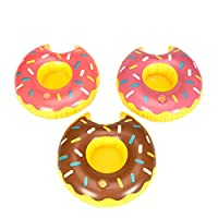 JOYKK Cute Do-nut Cup Inflatable Holder Floating Coaster Pool Drink Water Toy Beach Party