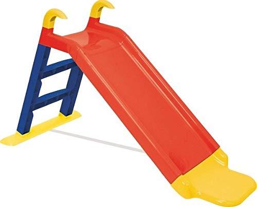 KitGarden- Tobogán con Escalera + extensión, Rojo, Children Slide, Color (Grupo F. Burgos 22-984)