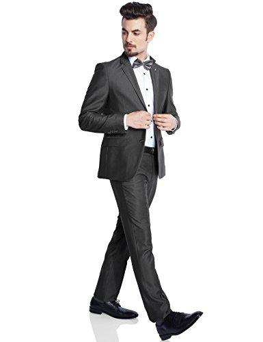 Parx Dark Grey Terelyne Blend Suit